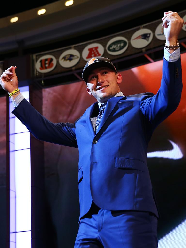 Johnny 'Football' Manziel was one of many quarterback busts for the Browns.