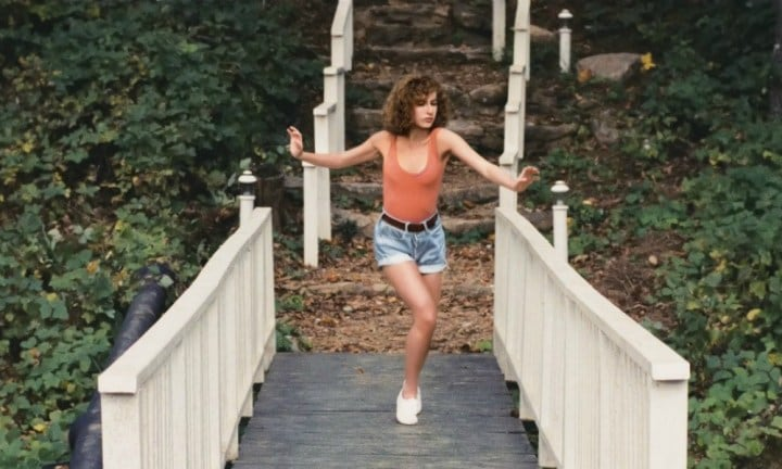 Baby was seen running down stone steps and across a bridge a number of times, which was a montage in the film as she made her way between the resort and the staffing quarters, where she was learning to dance. Source: Vestron Pictures
