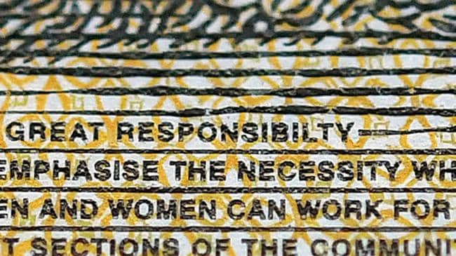 "The word ""responsibility"" is misspelt."