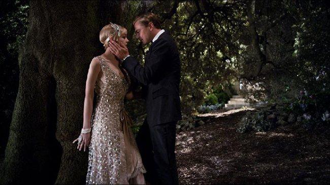 Leonardo DiCaprio with Carey Mulligan in Baz Lurhmann's The Great Gatsby.