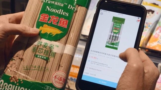 Digital giant Alibaba already has a chain of supermarkets in China where you can scan and go.