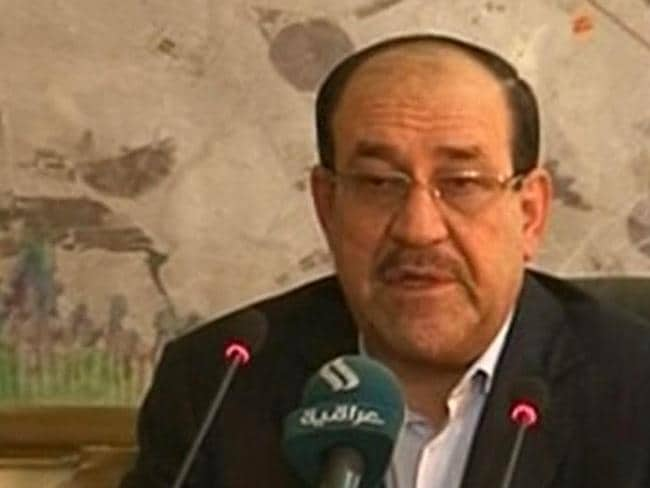Controversial character ... Iraqi Prime Minister Nouri al-Maliki meets with military commanders in Samarra, Iraq, to discuss the defence of the strategic city. The Iraqi leader is trying to repair his shattered image after the disastrous loss of the north to Islamic militants.