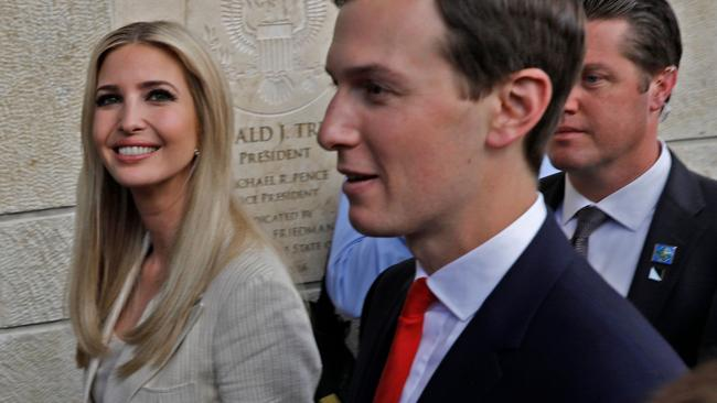 Ivanka Trump and Jared Kushner. Pic: AFP
