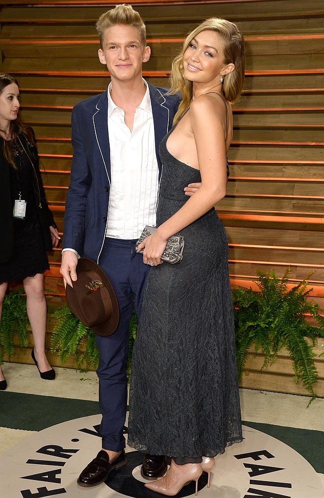 Singer Cody Simpson and his swimsuit model girlfriend Gigi Hadid. Picture: Getty Images