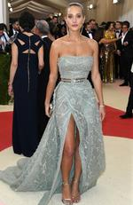 "Hannah Davis attends the ""Manus x Machina: Fashion In An Age Of Technology"" Costume Institute Gala at Metropolitan Museum of Art on May 2, 2016 in New York City. Picture: Larry Busacca/Getty Images"