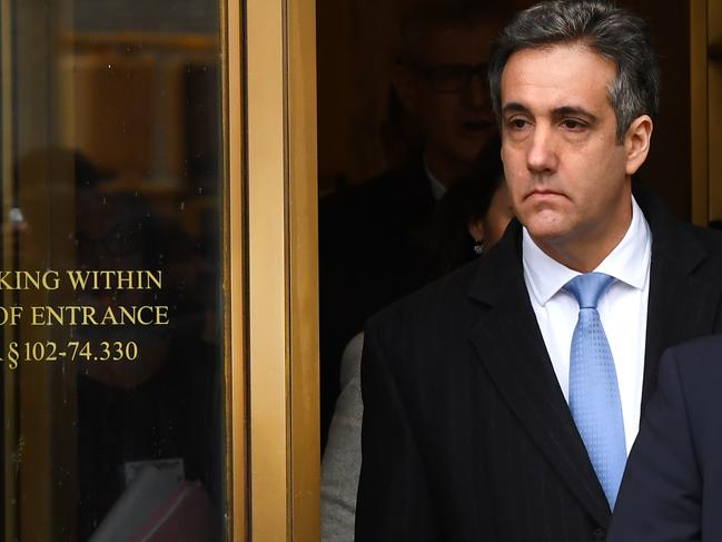 The report alleged that Trump told Micheal Cohen to lie to congress. Picture: AFP