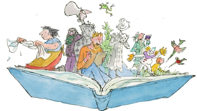 Quentin Blake's illustrations became synonymous with Dahl's books. Photo: Quentin Blake illustration