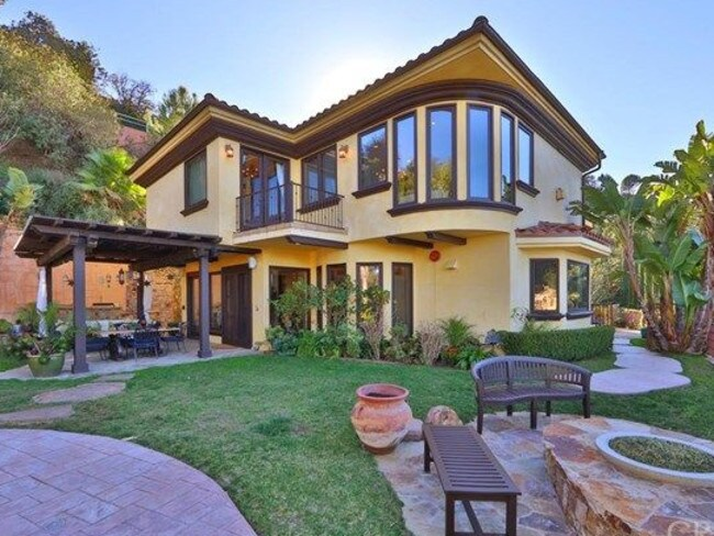 The Mediterranean bungalow is just 11kms from the Hollywood sign. Picture: Realtor.com