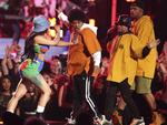 "Bruno Mars and Cardi B perform ""Finesse"" at the 60th Annual GRAMMY Awards at Madison Square Garden on January 28, 2018 in New York City. Picture: AP"