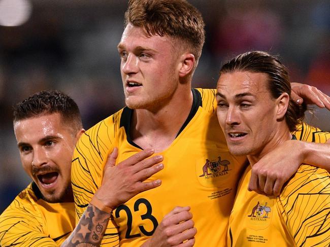 The Socceroos had plenty to celebrate.