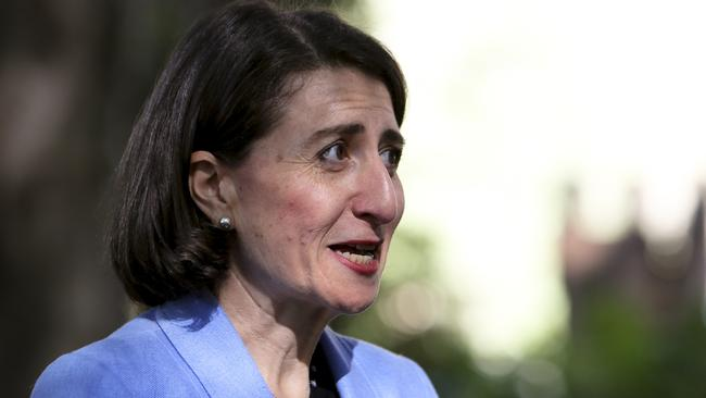 NSW Premier Gladys Berejiklian wants the new light rail system up and running sometime in 2019, Picture: AAP Image/Paul Braven