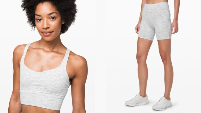 Crop, $69. and shorts, $69, both at lululemon