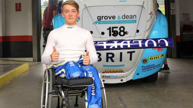 Billy Monger is back driving race cars. Picture: Forix