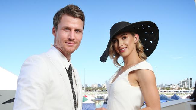 Richie Strahan and Alex Nation met on The Bachelor. Picture: Richard Dobson