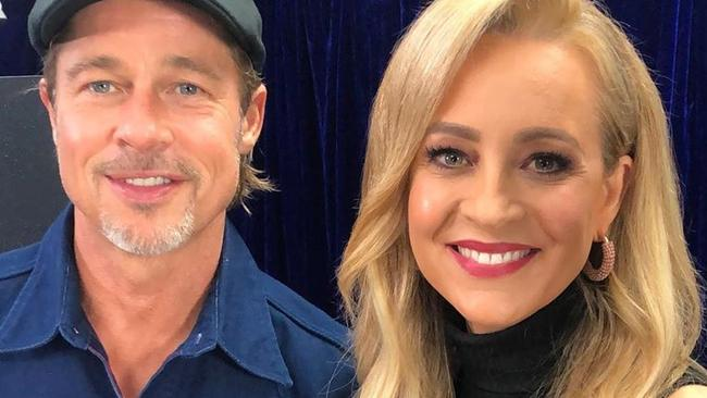 Carrie Bickmore caught lying to Brad Pitt in Ad Astra interview