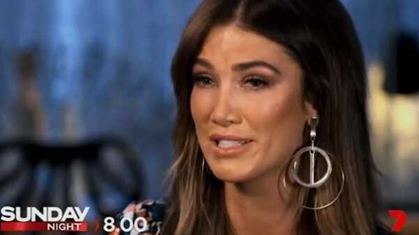 Goodrem broke down while discussing her mentor's diagnosis