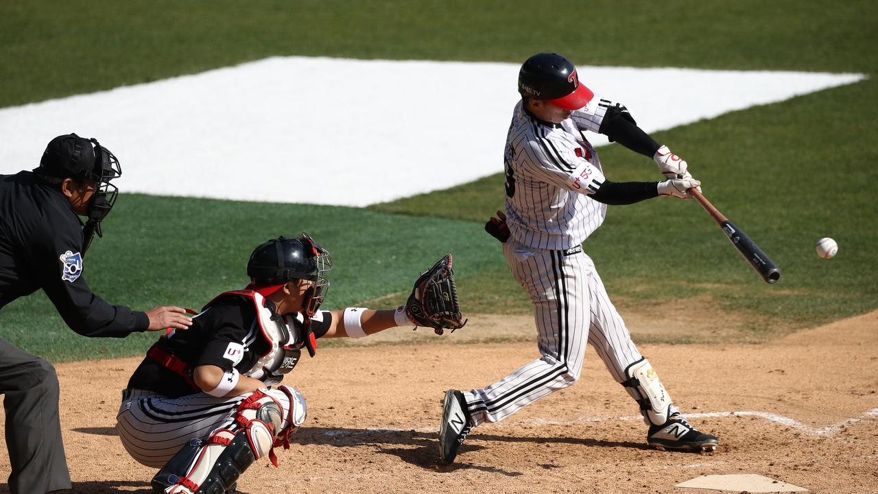 Korea's top baseball league is set to resume play within weeks. (Photo by Chung Sung-Jun/Getty Images)