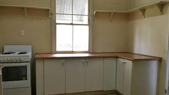 The kitchen is in dire need of a renovation.