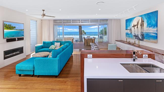 "The Gold Coast's best performing Airbnb is Holly Hohn's ""dream home"" overlooking the beach at Currumbin. Picture: Supplied"