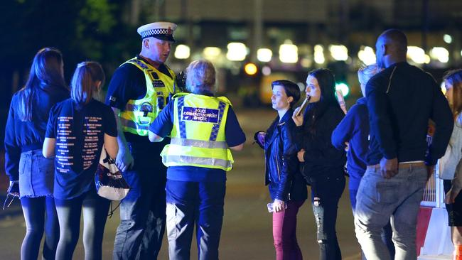 Manchester police near the stadium. Picture: Dave Thompson/Getty Images