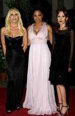 Designer Donatella Versace, singer Janet Jackson and Allegra Versace Beck attend Uomo Vogue 40th Anniversary Celebration Party in 2008. Picture: Vittorio Zunino Celotto/Getty Images