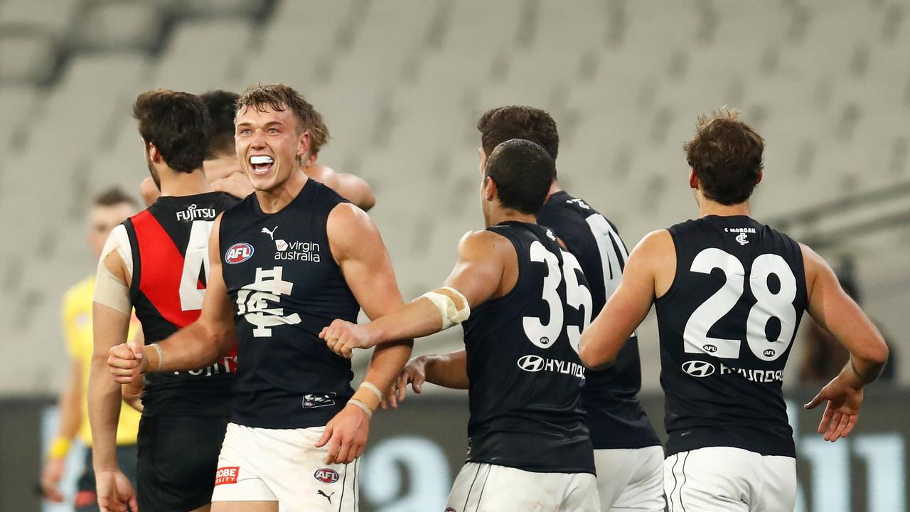 Carlton is off to Queensland. Photo: Darrian Traynor/AFL Photos/via Getty Images.