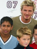 <p>2002: Manchester United's David Beckham unveils his range of Boyswear in Marks &amp; Spencer store in Manchester Fashion Soccer.</p>