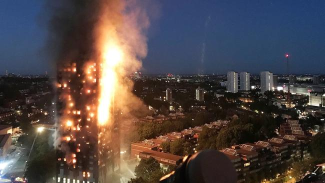 Seventy-one people died when the Grenfell Tower went up in flames. Picture: Getty Images
