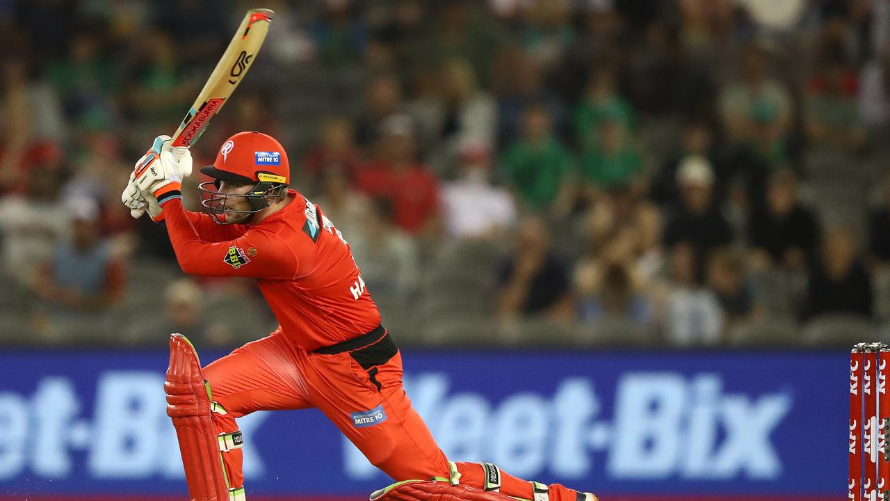 Mackenzie Harvey of the Renegades bats during the Big Bash