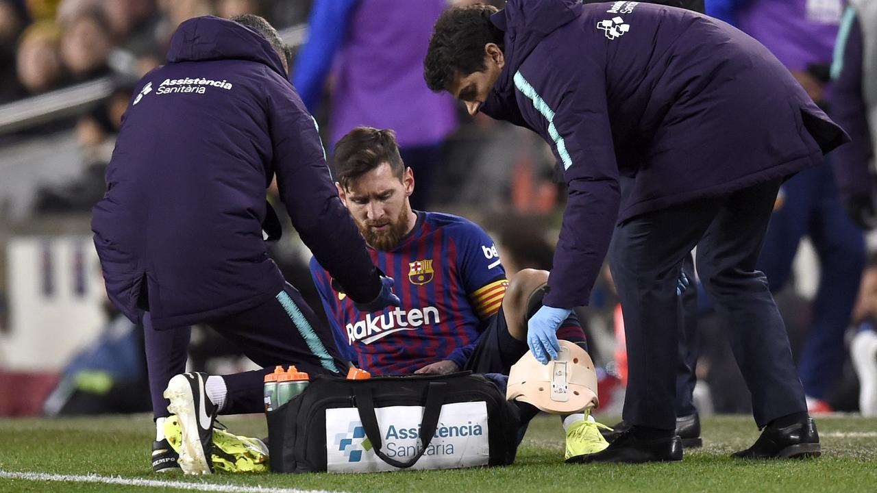 Image result for leo messi injury