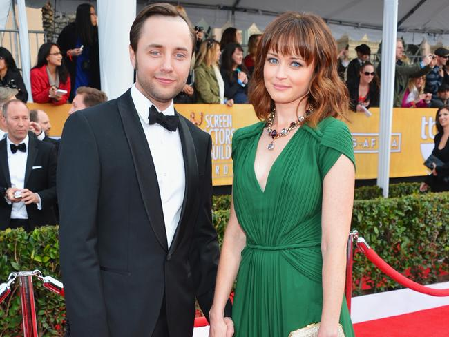 Alexis Bledel with her real-life love, husband Vincent Kartheiser. Picture: Alberto E. Rodriguez/Getty Images