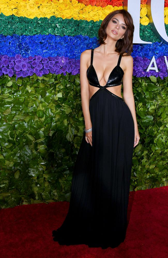 Emily Ratajkowski in Michael Kors. Picture: Getty Images/AFP