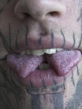 The tongues split was the most painful procedure. Picture: Alana Tompson / Barcroft / Getty Images