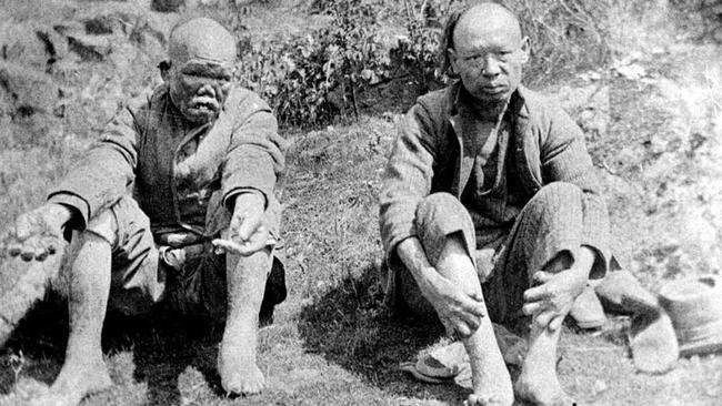 Lepers on British Columbia's 'island of death' or D'Arcy Island where Chinese afflicted with leprosy were banished to 100 years ago.