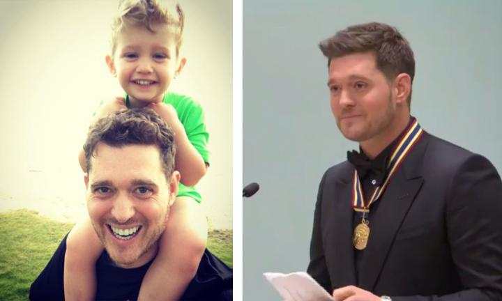 Michael Bublé returns to stage after son's cancer battle