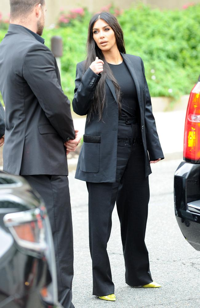 Kim means business. Picture: Splash News