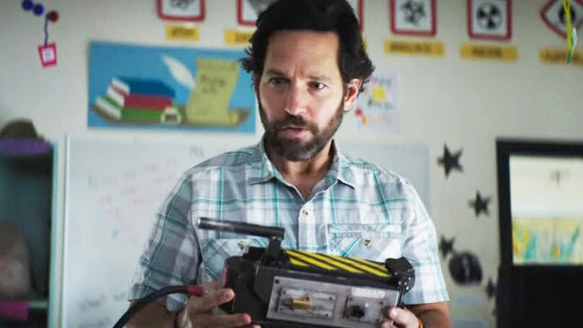 Paul Rudd in the new Ghostbusters movie.