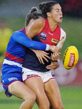 Birch made the shift to the Demons after three seasons at Whitten Oval. Picture: AAP