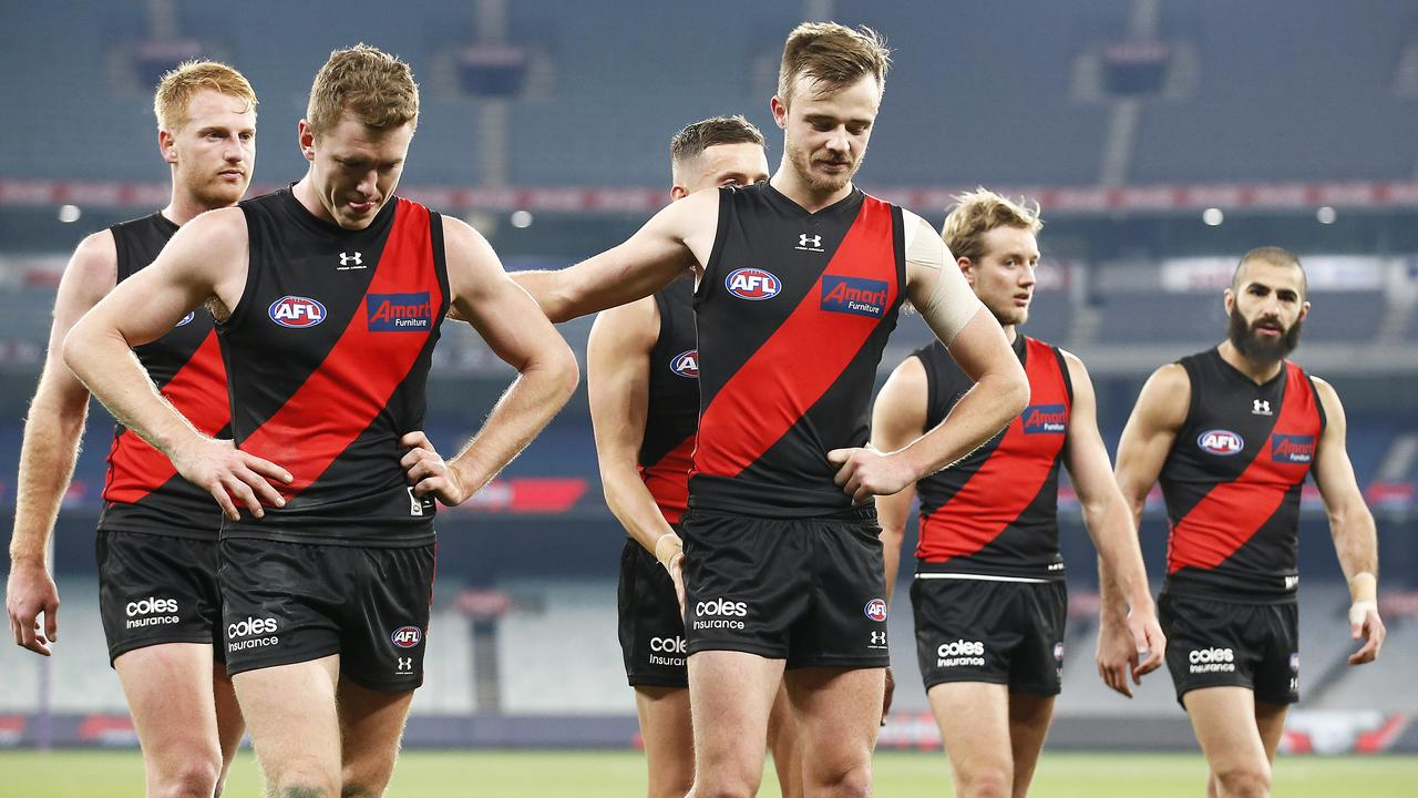 Essendon's percentage is poor despite its 5-2 record. (Photo by Daniel Pockett/Getty Images)