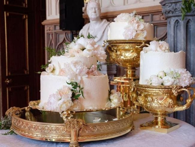 The stunning lemon and elderflower wedding cake served at Harry and Meghan's reception