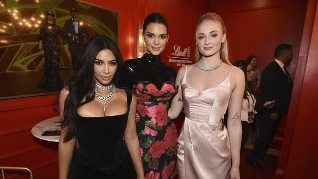 Kim, Kendall and Sophie. Picture: Dan Steinberg/Invision for the Television Academy/AP Images