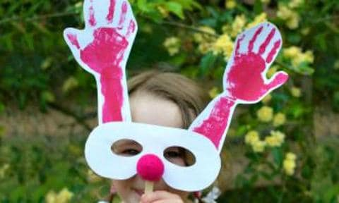 """<b>REINDEER MASKS:</b> Kids that are into making mess and dressing up will LOVE the excuse to paint their arms to become Rudolph for a day.  <a href=""""http://www.kidspot.com.au/things-to-do/activities/reindeer-mask"""">Get the instructions here</a>"""