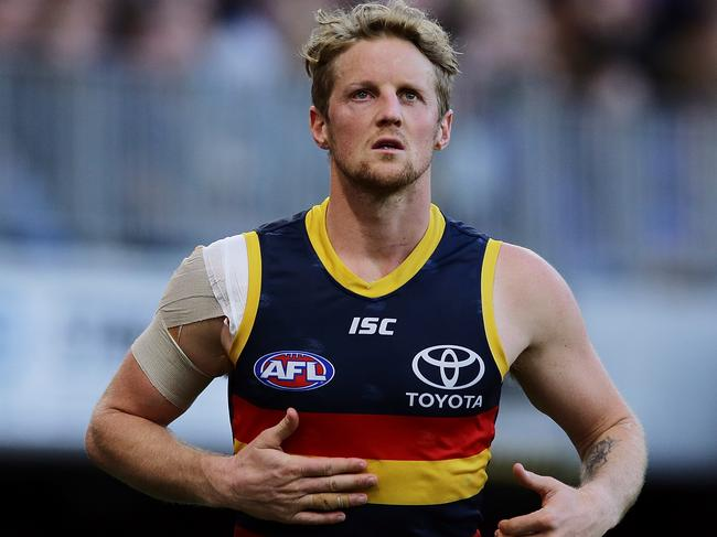 Rory Sloane is in doubt with an eye injury for the Crows.