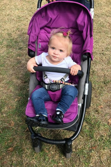 Ivy-April seemed unwell but okay when the family visited the show. Image: Supplied