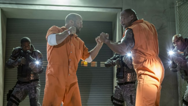 The two men sparring in Fast & The Furious. Photo: Supplied