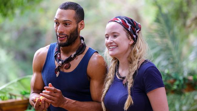Simone Holtznagel and Josh Gibson on I'm A Celebrity ... Get Me Out Of Here