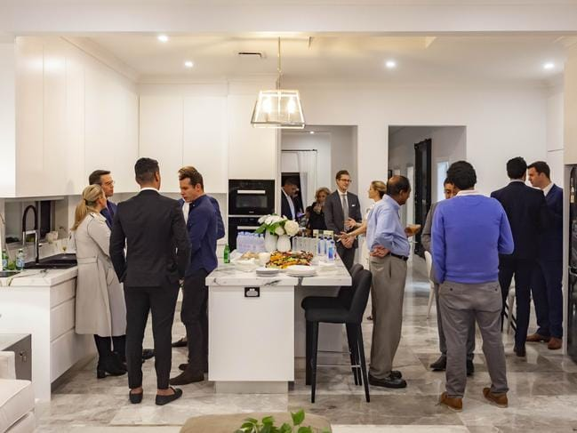The kitchen at 133 O'Sullivan Rd, Bellevue Hill, during the VIP launch event