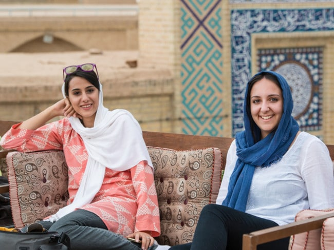 Females are required to wear a headscarf, known as a hijab, in Iran.
