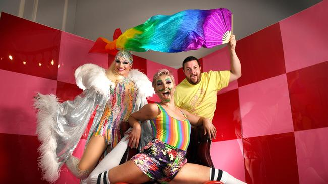 Participants of Adelaide's Feast drag festival in 2019. Picture: Tricia Watkinson
