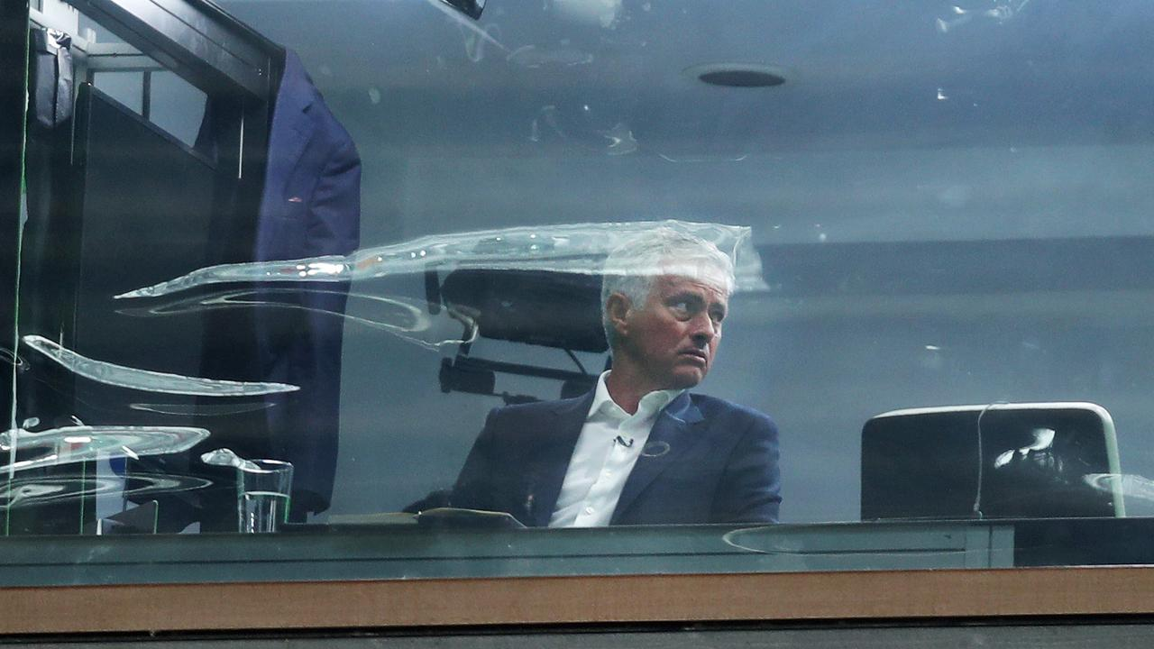 Jose Mourinho started his new job as a Sky Sports pundit at Old Trafford.